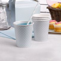 Polka Dot Blue Paper Cups (8)